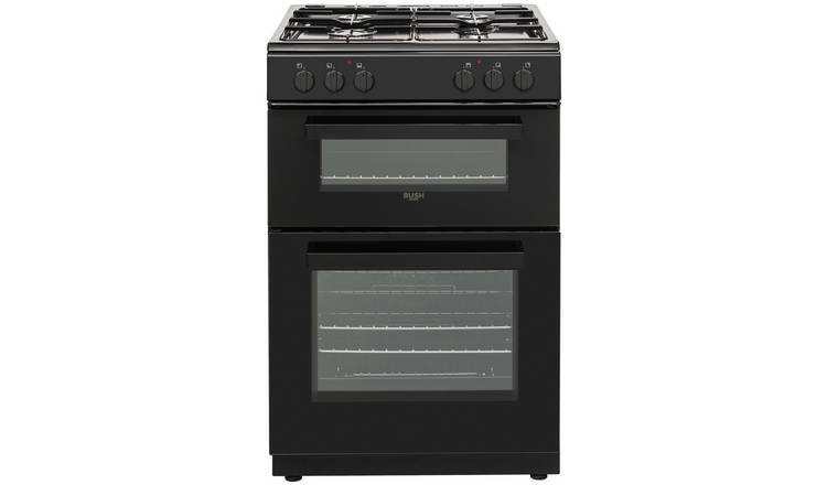 Bush DHBDFDBL60B 60cm Double Oven Dual Fuel Cooker - Black