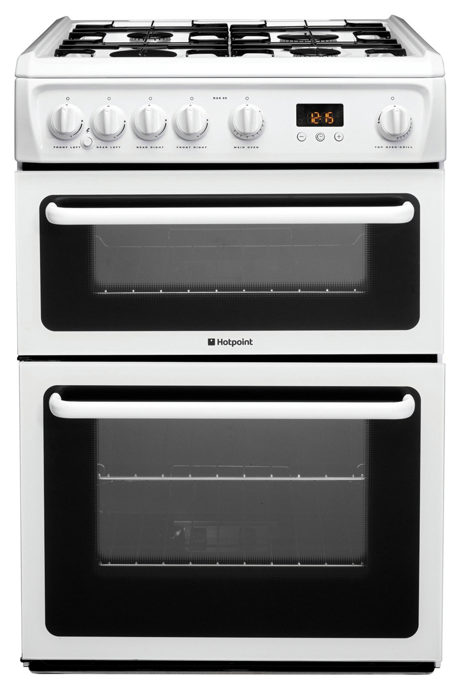 Hotpoint HAG60P Double Gas Cooker - White