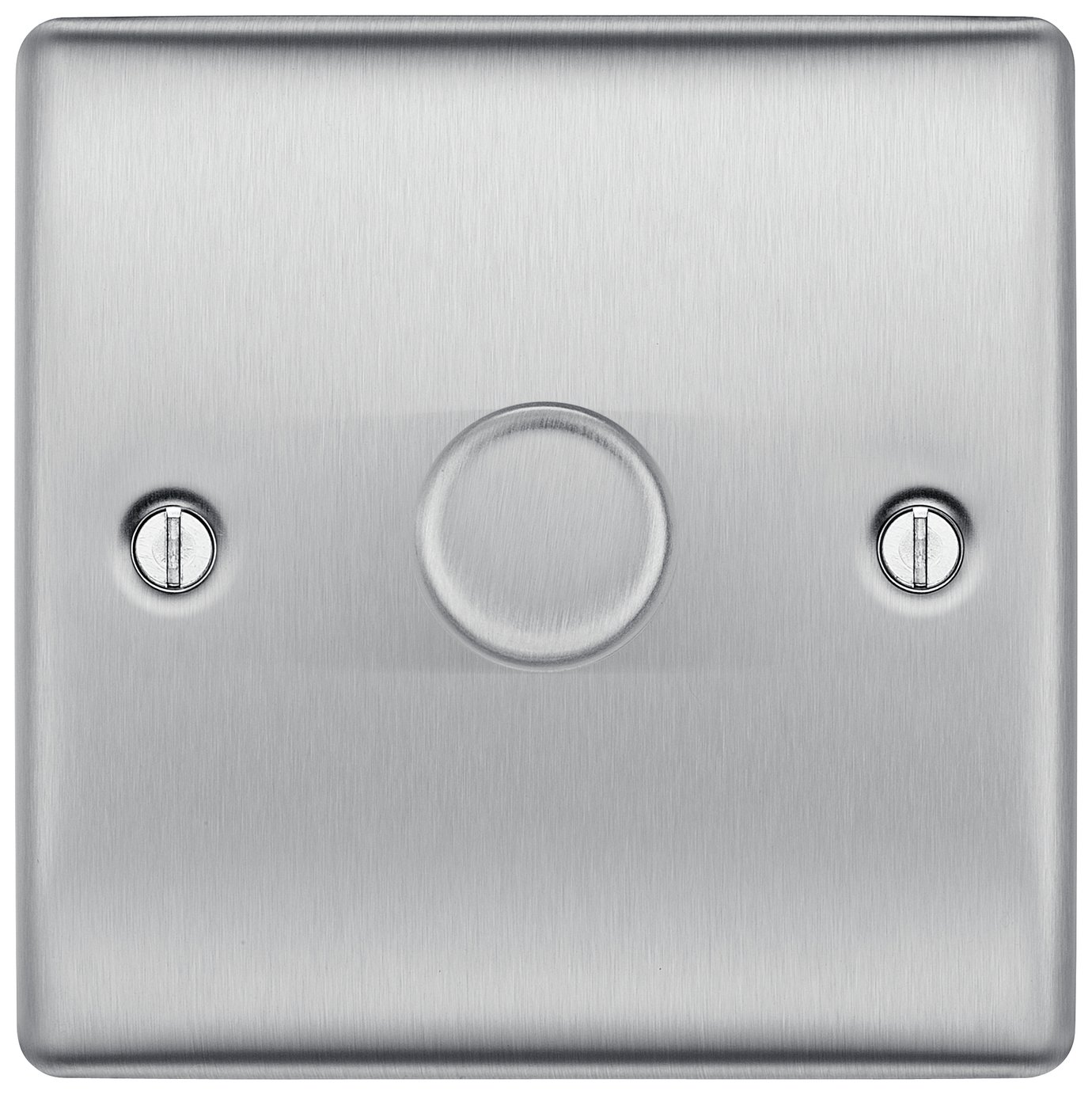 BG Single 2 Way Dimmer Switch - Brushed Stainless Steel