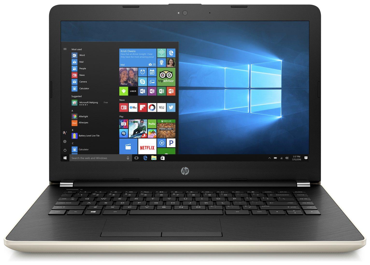 HP 14 Inch Intel Pentium 4GB 256GB Laptop - Gold