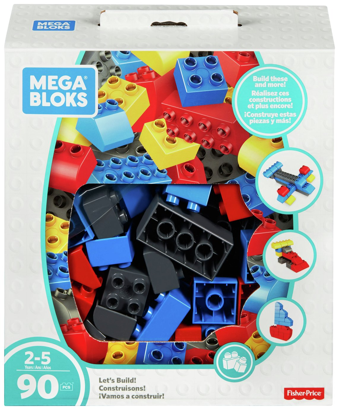 Mega Bloks Let's Build! 90 Block Set