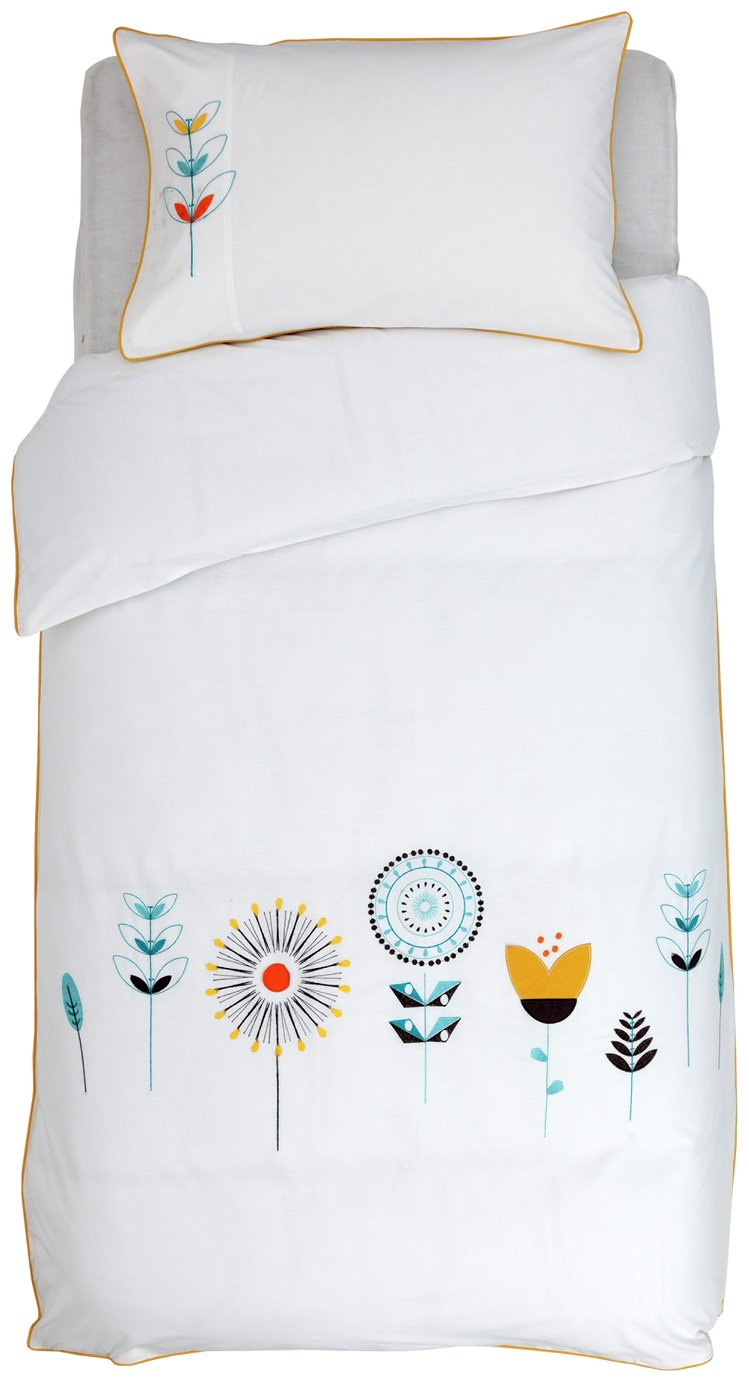 Argos Home Retro Embroidery Bedding Set - Single