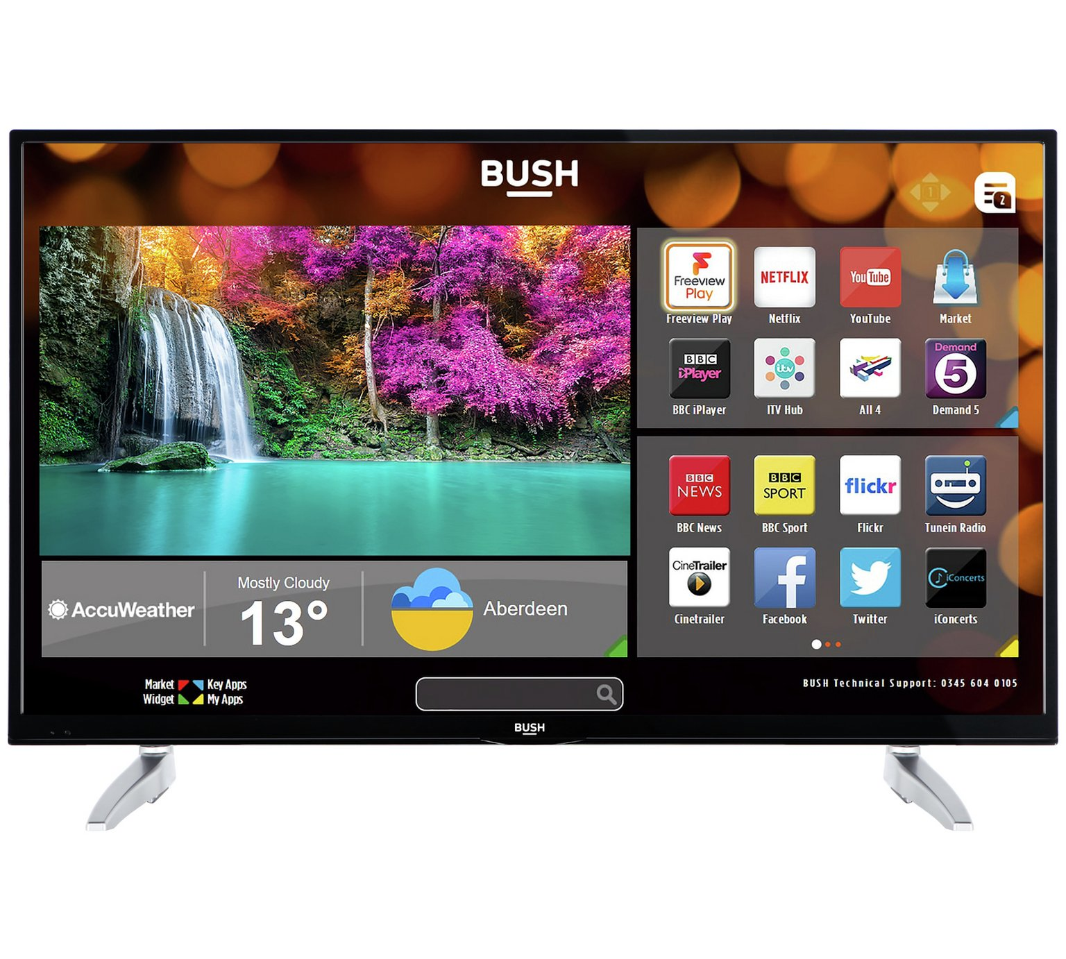 Bush 43 Inch Smart 4K UHD TV with HDR