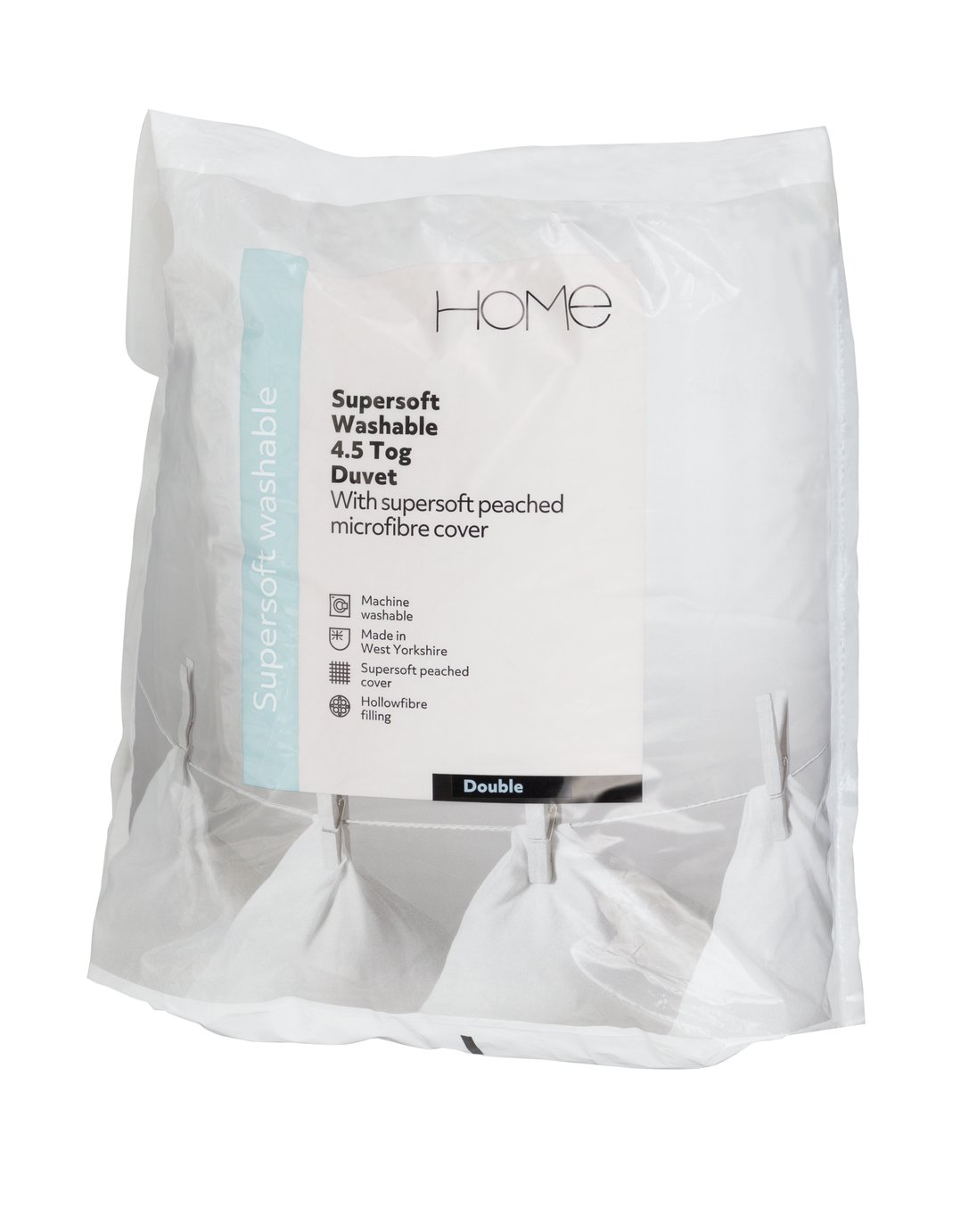 Image of Argos Home Supersoft Washable 4.5 Tog Duvet - Double