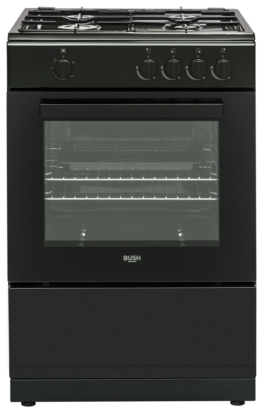 Bush BGC60SB 60cm Single Oven Gas Cooker - Black