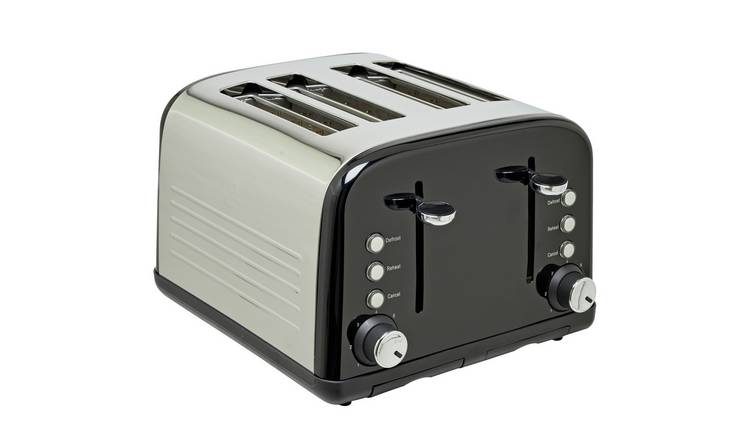 Cookworks 4 Slice Toaster - Black