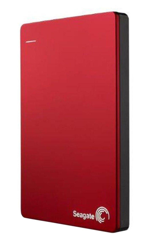 Seagate BUP 2TB Slim Portable Hard Drive - Red