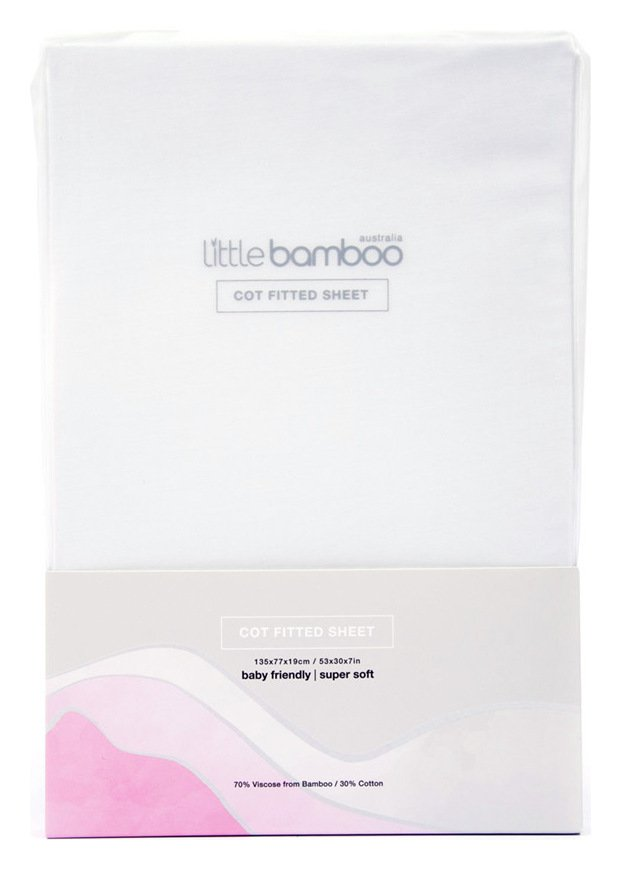 Little Bamboo Cotbed Fitted Sheet