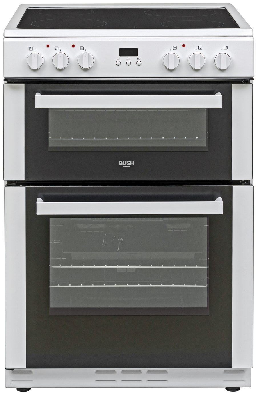 Bush BDBL60ELW 60cm Double Oven Electric Cooker - White Best Price, Cheapest Prices