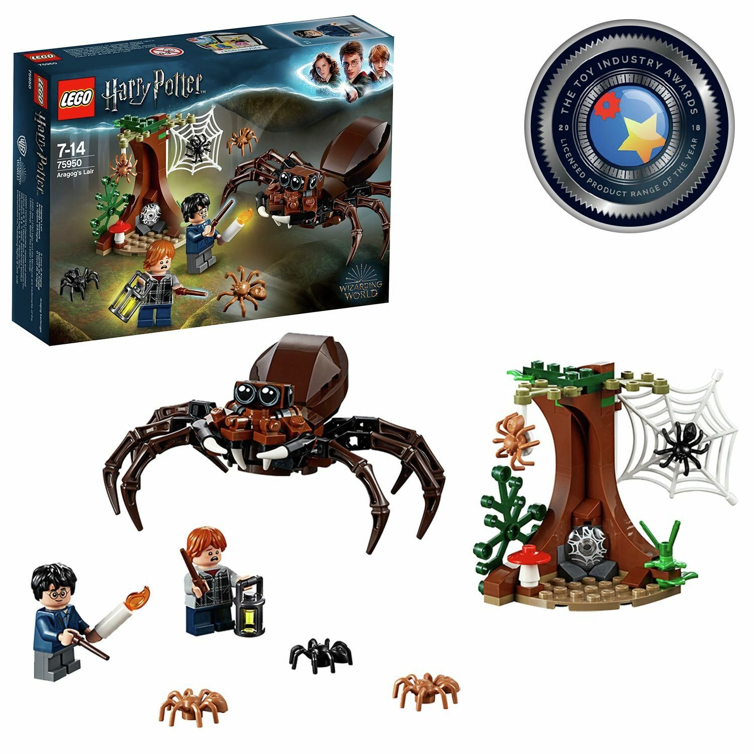 LEGO Harry Potter Aragog's Lair Wizarding Fan Gift - 75950