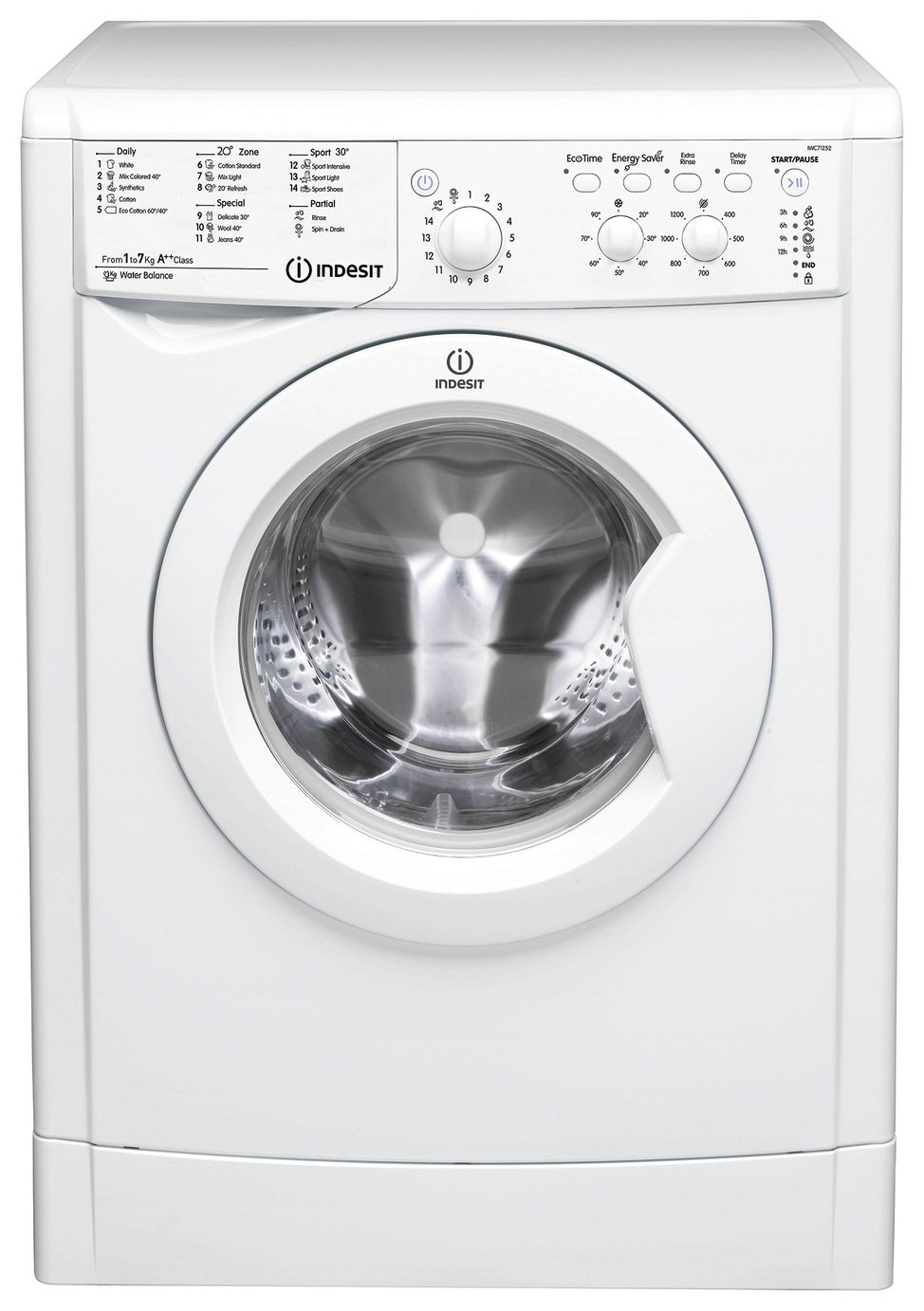 Indesit IWDC 6125 6KG / 5KG 1200 Spin Washer Dryer - White