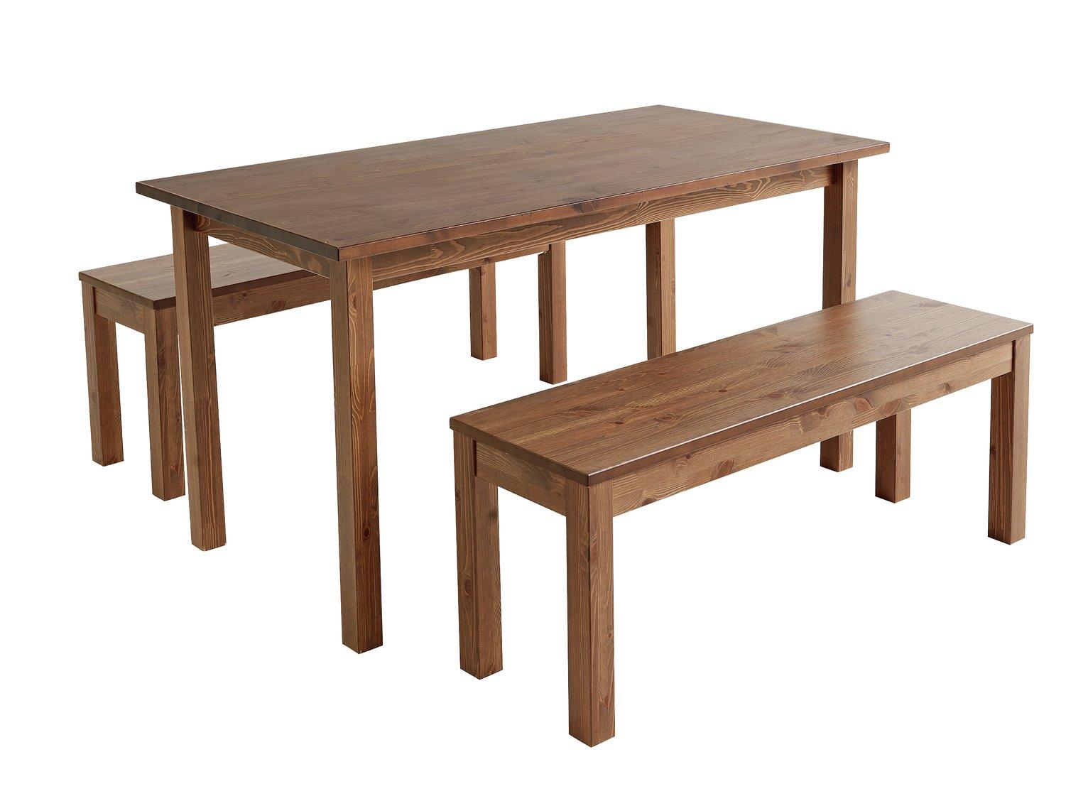 Two Tone Argos Home Ashdon Table and Bench Set