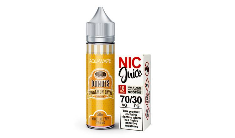 Aqua Vape Cinnamon Swirl Shortfill Including Nic Shot