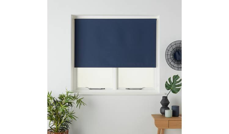 Argos Home Blackout Insulating Roller Blind - 2ft - Indigo