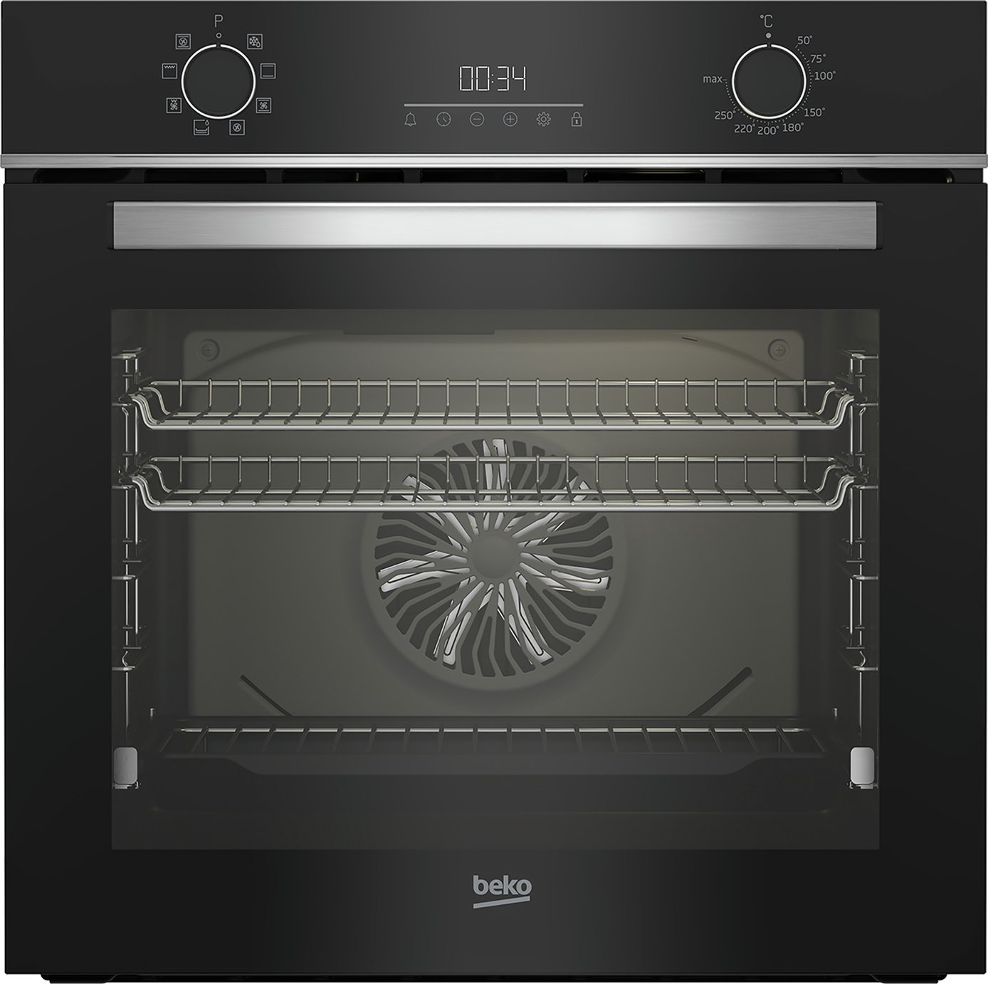 Beko 72L AeroPerfect Electric Single Oven with Catalytic Cleaning - Black