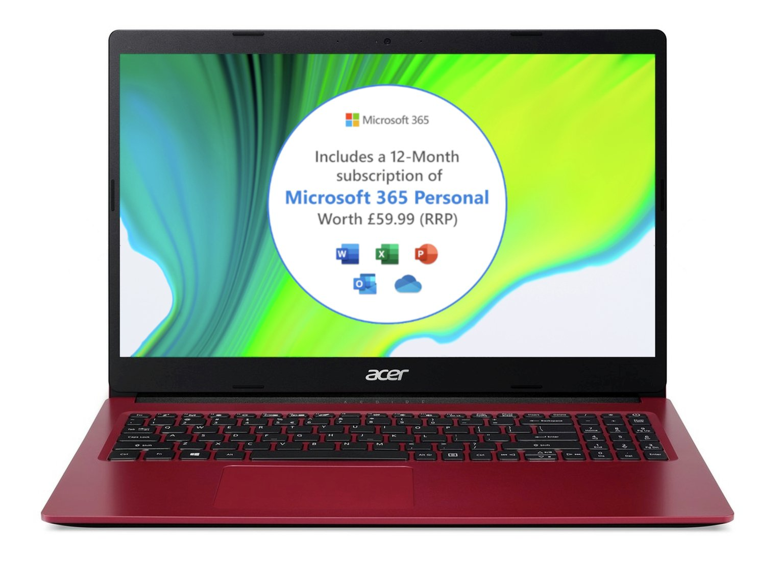 Acer Aspire3 15.6in Celeron 4GB 128GB Laptop & Microsoft 365
