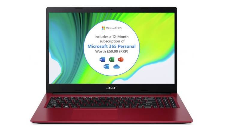 Acer Aspire3 15.6in Celeron 4GB 128GB Laptop & Microsoft 365