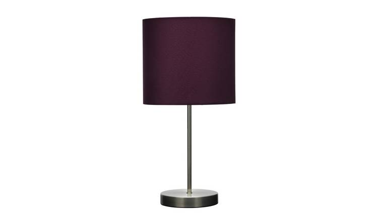Argos Home Satin Stick Table Lamp - Plum