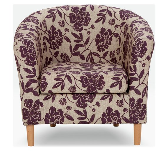buy argos home floral fabric tub chair cranberry armchairs and