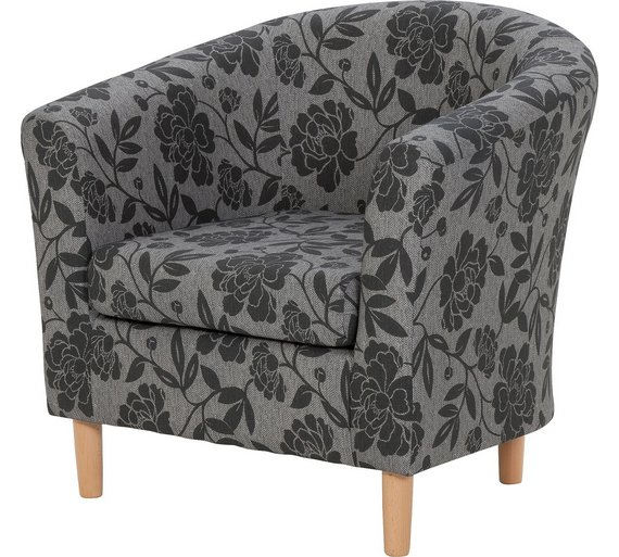 buy argos home floral fabric tub chair charcoal armchairs and