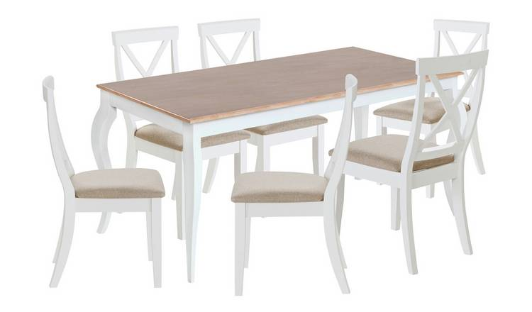 Amazing Buy Argos Home Southwold Oak Veneer Table 6 Two Tone Chairs Dining Table And Chair Sets Argos Squirreltailoven Fun Painted Chair Ideas Images Squirreltailovenorg