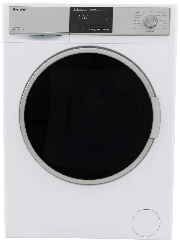Sharp ES-HDB8647W0 8/6KG 1400 Spin Washer Dryer - White