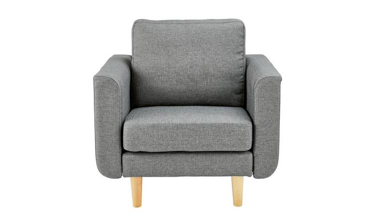 Argos Home Remi Fabric Armchair in a Box - Light Grey