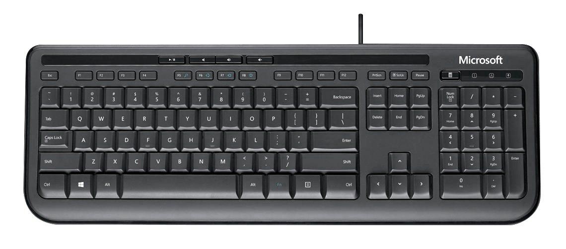 Microsoft 600 Wired Keyboard - Black