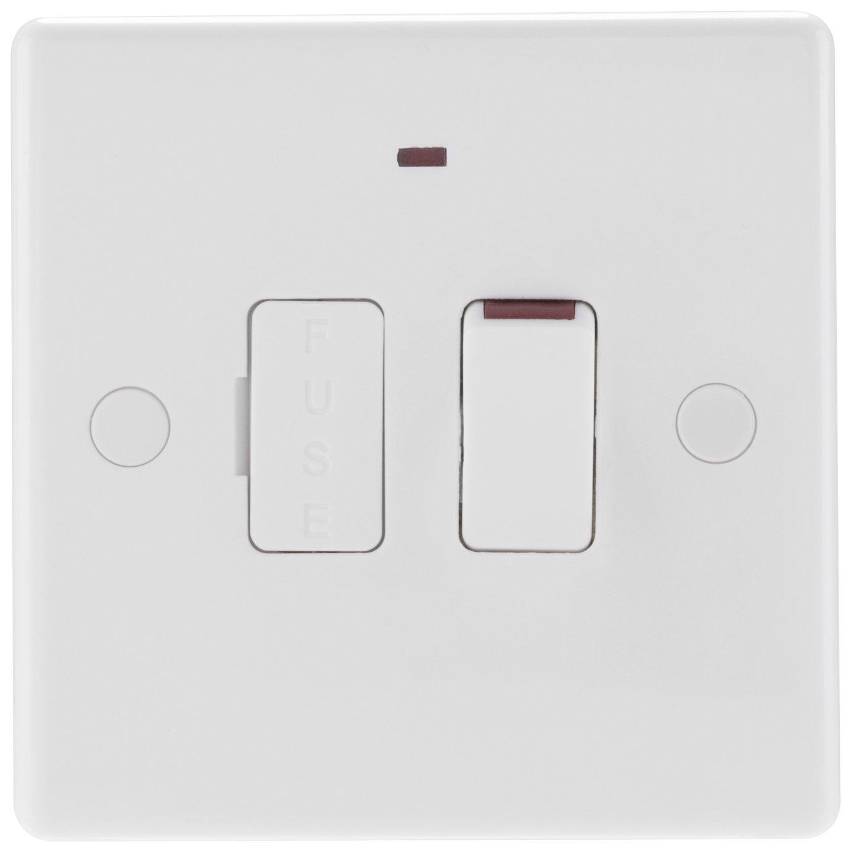 BG Single Switch - White