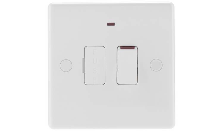 BG Single Switch - White