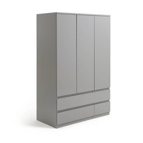 hot sale online b5017 4a726 Buy Argos Home Jenson Gloss 3 Door 4 Drawer Wardrobe - Grey | Wardrobes |  Argos