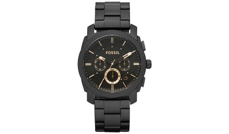 2218d01455a Buy Fossil Men s Black Stainless Steel Chronograph Watch