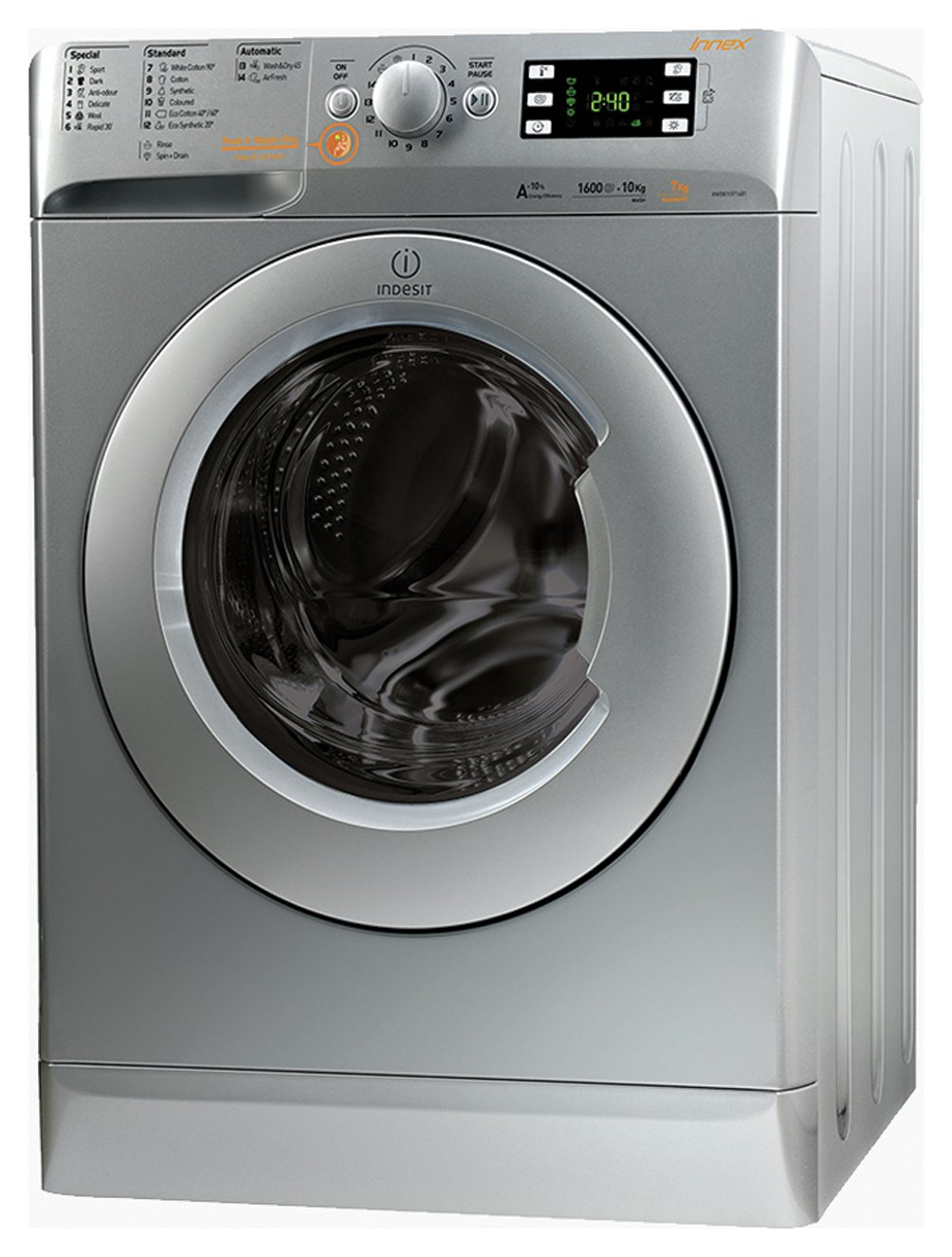 Indesit XWDE751480XSUK 7KG / 5KG 1400 Washer Dryer - Silver