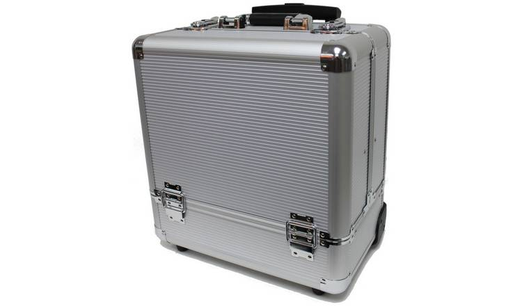 Silver Medium Portable Trolley Case