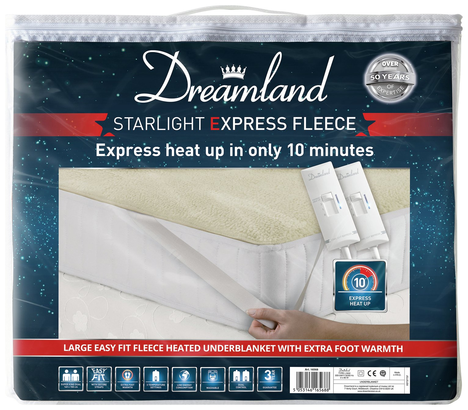 Dreamland Starlight Express Heated Underblanket - Superking