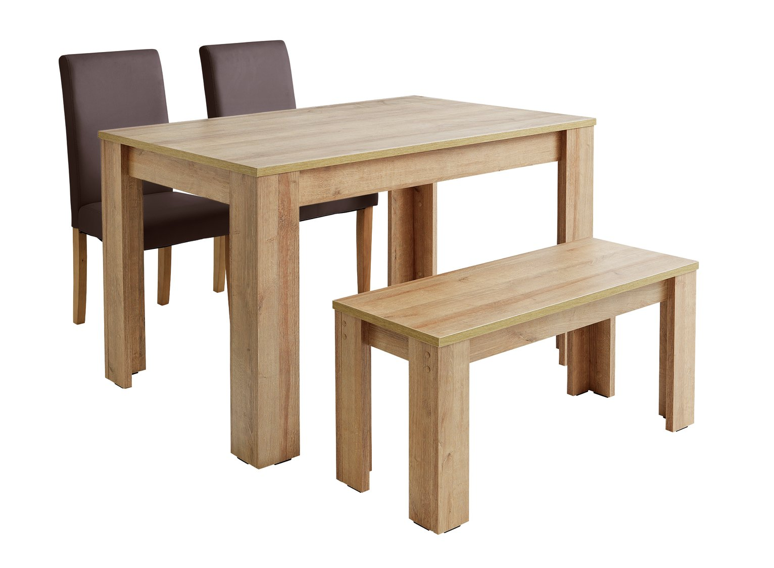 Argos home miami table bench and chairs set chocolate 8241500 argos price tracker pricehistory co uk