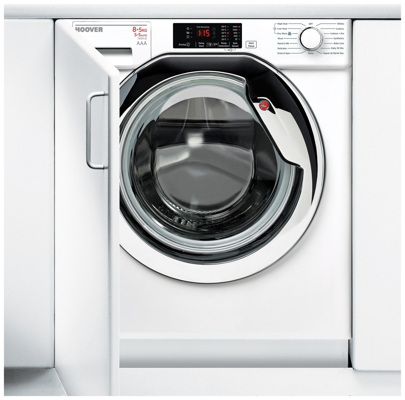 Hoover HBWD8514DC 8KG 5KG 1400 Spin Integrated Washer Dryer