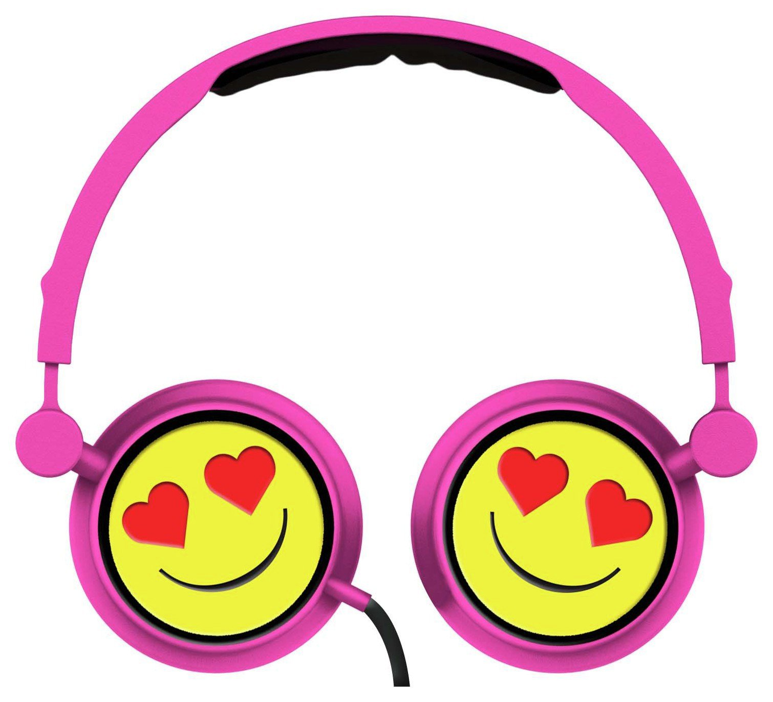 Emoji Swivel On-Ear Headphones - Heart