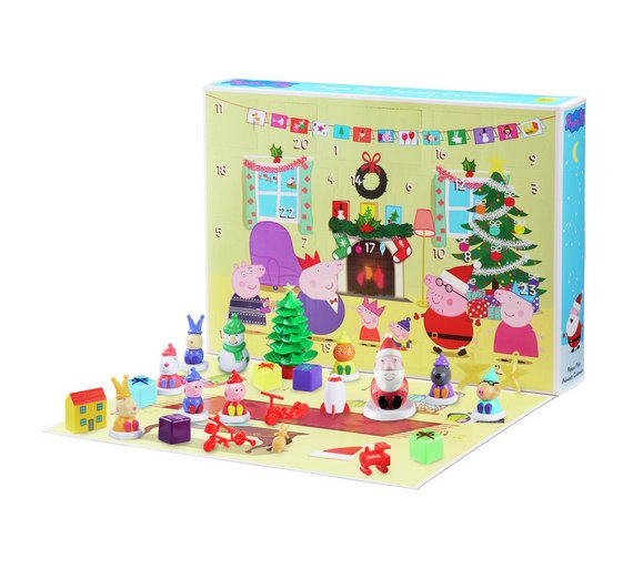 buy peppa pig advent calendar action figures and playsets argos