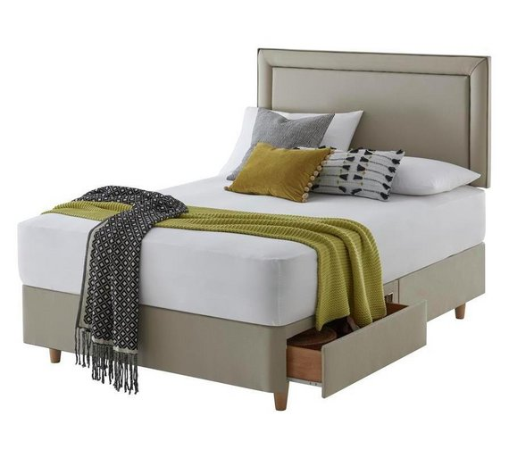King Size Divan Bed 2 Drawers With Mattresses
