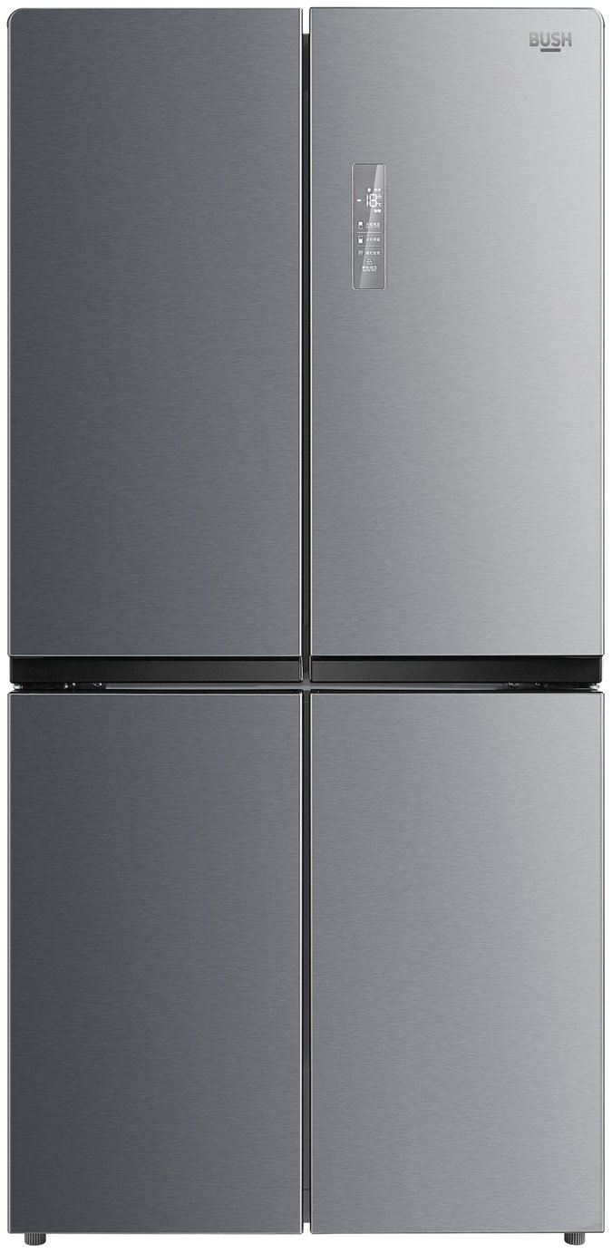 Bush MMD4S American Fridge Freezer - Stainless Steel