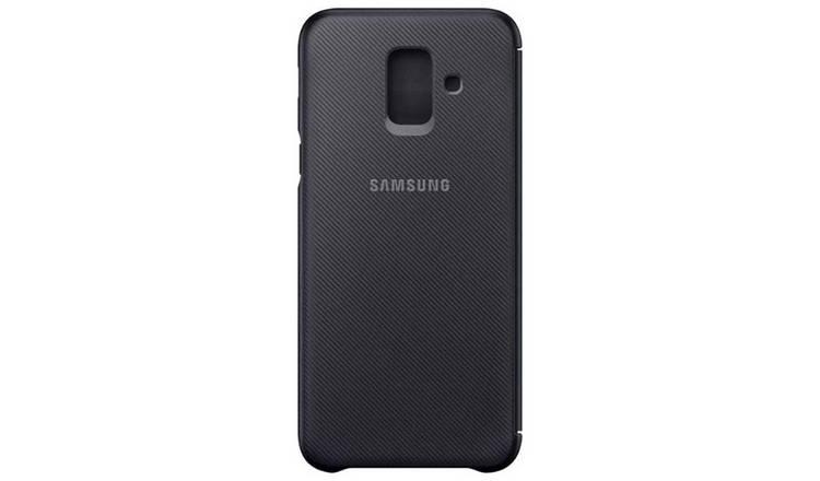 meet 77a6b 456e1 Buy Samsung A6 Mobile Phone Wallet Cover - Black   Mobile phone cases    Argos