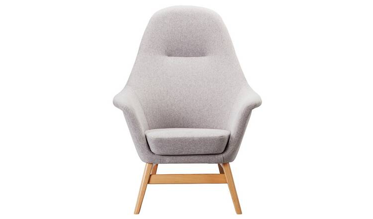 Argos Home Reuben Fabric Armchair - Light Grey