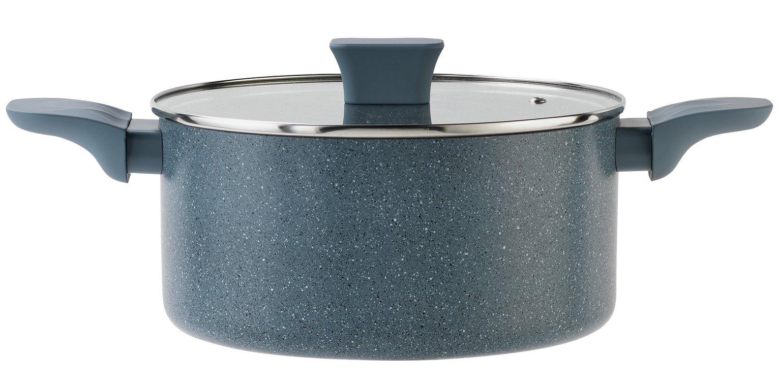 Argos Home Stone Effect Aluminium Stock Pot