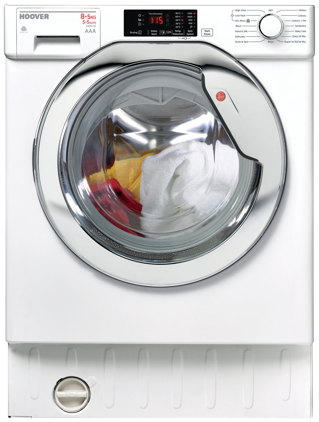 Hoover HBWD8514DC 8KG 5KG 1400 Spin Integrated Washer Dryer review