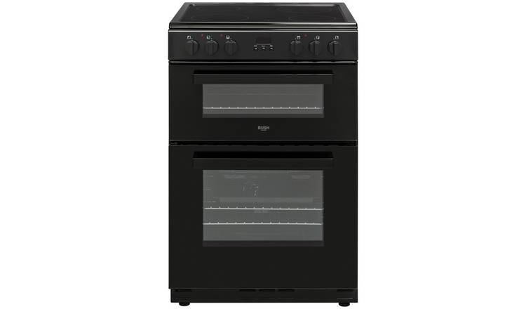 Bush BDBL60ELB 60cm Double Oven Electric Cooker - Black