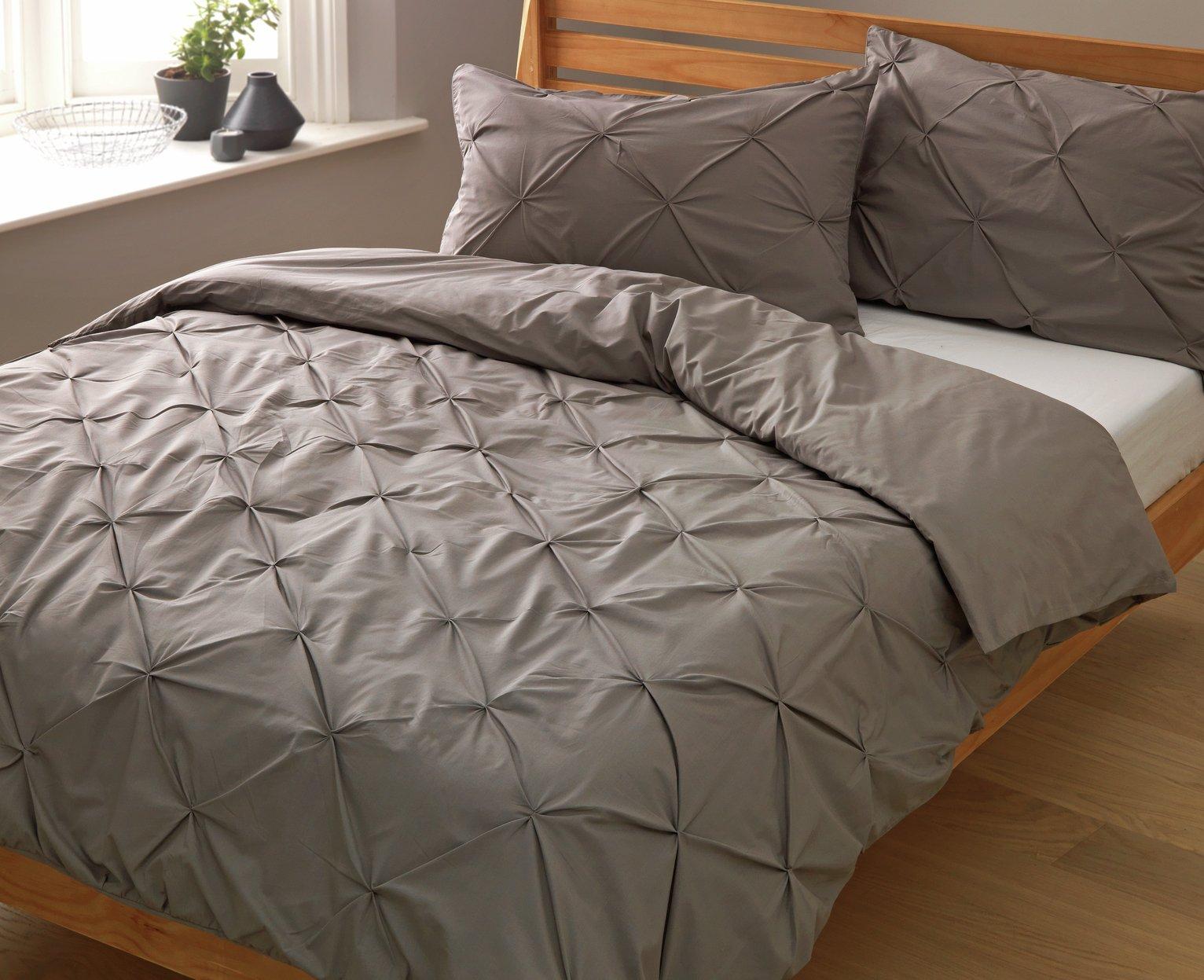 Argos Home Hadley Grey Pintuck Bedding Set review