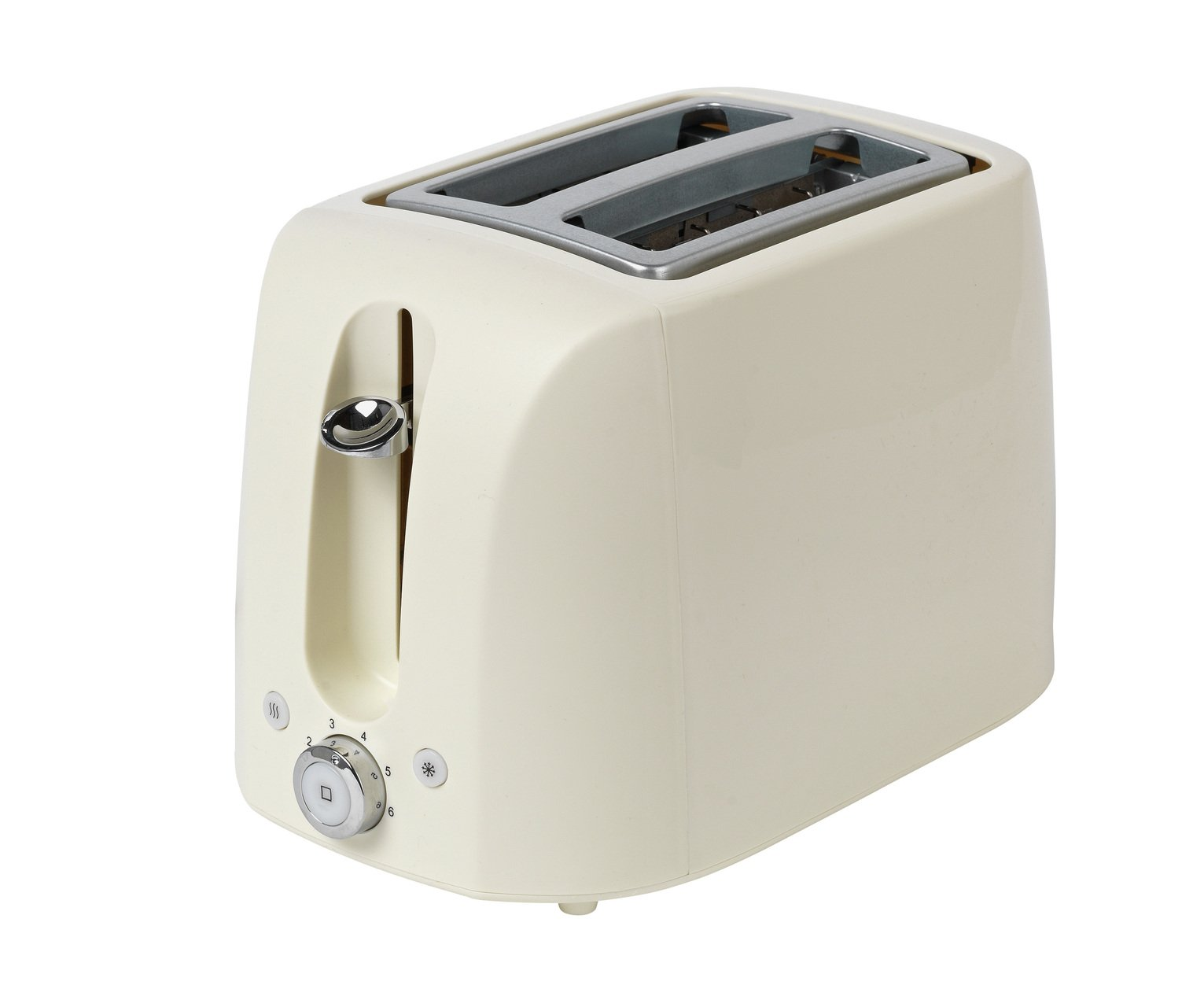Cookworks 2 Slice Toaster - Cream