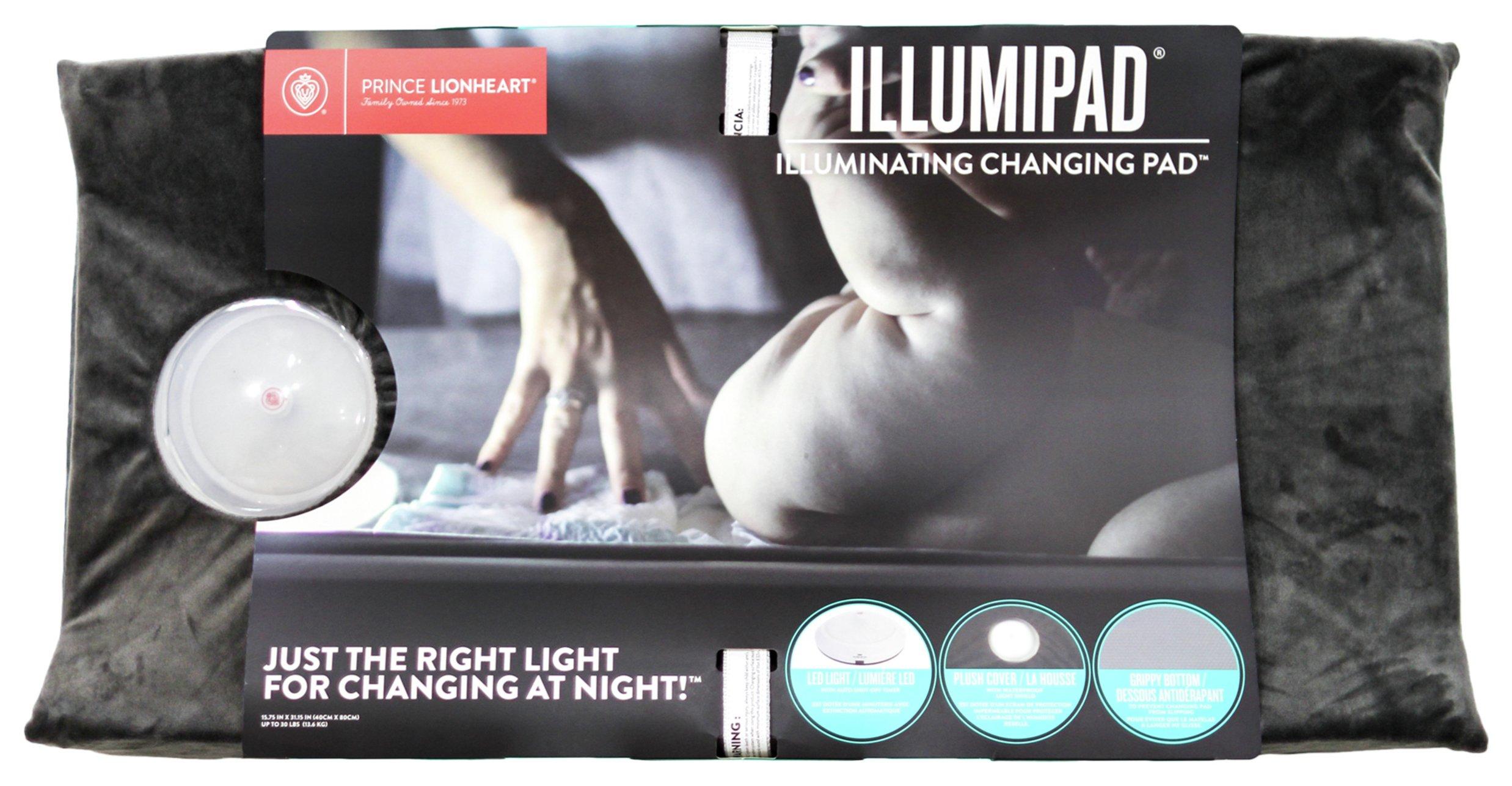 Image of Prince Lionheart Illumipad Changing Pad Cover - Grey