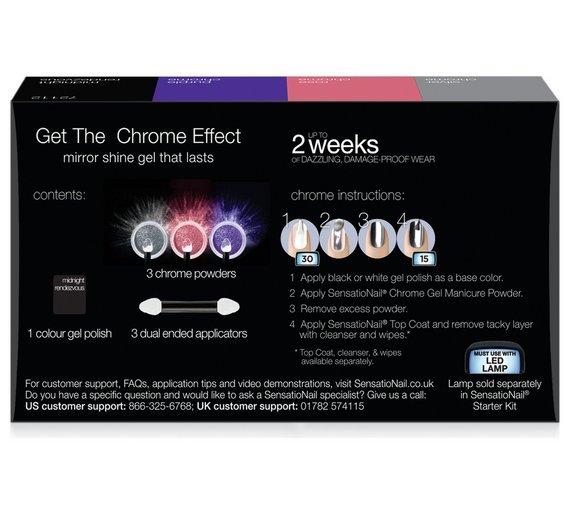 Buy Sensationail Chrome Collection 3 Pack Nails Argos